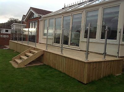 Quality Stainless Steel 42.4mm Satin External 316 Balustrade Posts  No Top Rail