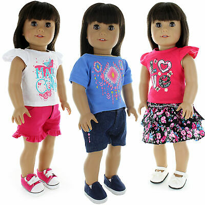 Doll Clothes 3 Set Dress Outfit Fits American Girl & Other 18 Inch Doll Clothing