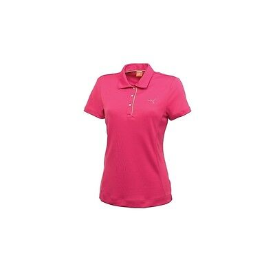 Puma Golf SS Tech Polo pink Damenpoloshirt