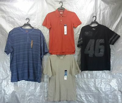 Wholesale Lot of 100 Assorted Shirts All Sizes Brand New Mens Clothing FREE SHIP