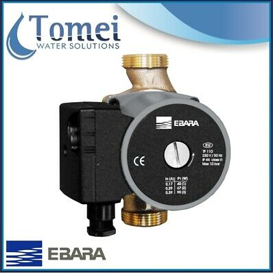 "Domestic HOT Water Circulator Ebara MR B 15/60-130mm 1"" Bronze 90W 230V 50Hz"