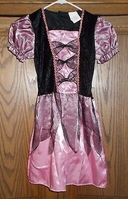 Nwt Pink Silver Sparkle Witch Halloween Costume Child's Size L Surplus Item