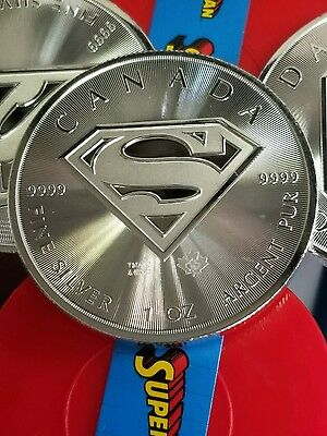 2016 Canada Silver Superman™: S-Shield 1oz BU w/ Airtite