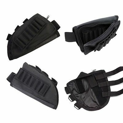 For Tactical Hunting Rifle Buttstock Cheek Rest Pouch Holder W/ Cheek Pad