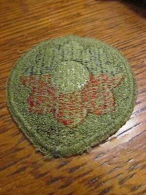 Wwii Us Army 9Th Infantry Division Cut Edge Greenback Patch Ww2 Variant