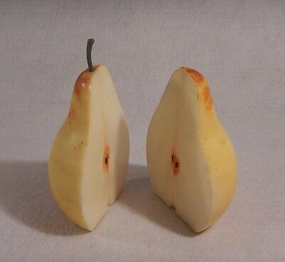 Vintage Genuine Alabaster Pear Bookends Made in Italy