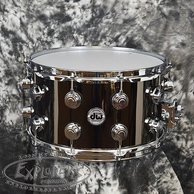 DW Collectors Black Nickel Over Brass 8x14 Snare Drum