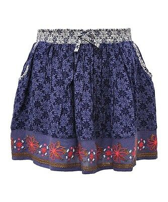 Bnwot Girls Blue Floral Embroidered Skirt - Fully Lined - Age 2-3 Years Only
