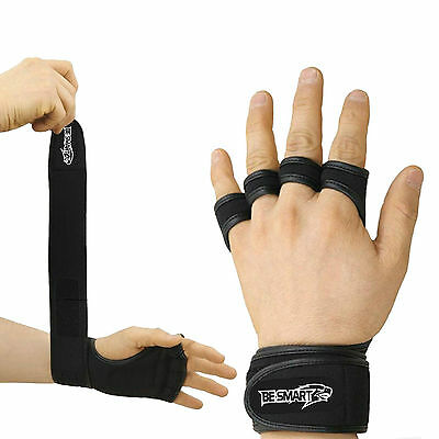 Be Smart Gloves Wrist Wrap Workout Dumbbell Fitness Weight Gym Lifting Grip new