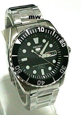 SEIKO SNZF17K1 Automatic Diver 23 Jewels Gear Men's Watch Sports Day Date Auto