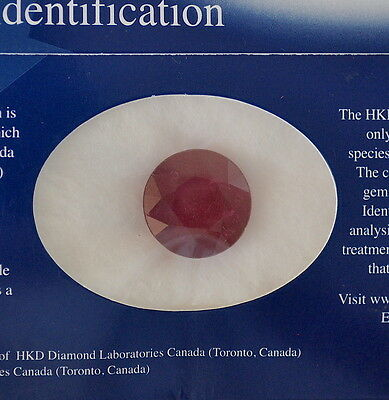 16.65ct Ruby Natural Round 14.97mm x 14.93mm x 8.44mm HKD certificate