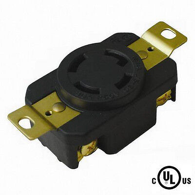 NEMA L15-30, 3 Pole 4 Wire 30A 250VAC Grounding Locking Receptacle, cUL Listed