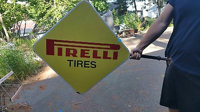 Vintage Porcelain Perelli Double Sided wall hanging Sign Very Rare
