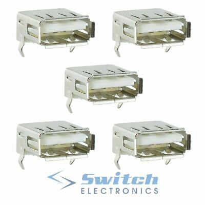 5 x USB Type A Right Angle Socket Connector