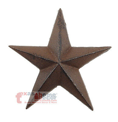 Small Rustic Cast Iron Texas Star Western Wall Mounted Arts Crafts 5 inches