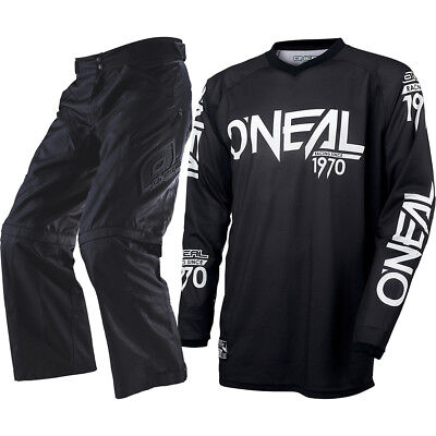 Oneal NEW 2017 Apocalypse Over Boot Pants Black Threat Jersey Offroad Gear Set
