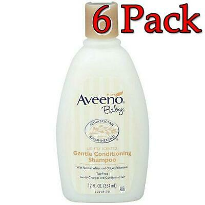 Aveeno Baby Gentle Conditioning Shampoo, 12oz, 6 Pack 381371151493A618
