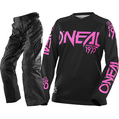 Oneal NEW 2017 Ladies Apocalypse Threat Black Pink Womens Offroad Gear Set