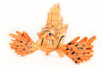 Venomous Fish Jewelry Trinket Box Decorative Collectible Sea Ocean Gift 02010