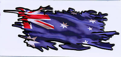 AUSSIE RIPPED FLAG Size apr. 165mm by 70mm