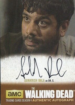 The Walking Dead Season 4 Pt.1 - Sb1 Sunkrish Bala (Dr. Subramanian) Autograph