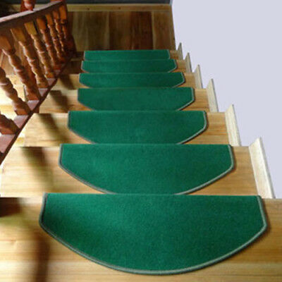 New Morden Solid Color Stair Tread Mats Non-Skid Stair Carpet Step Rugs 1 PC