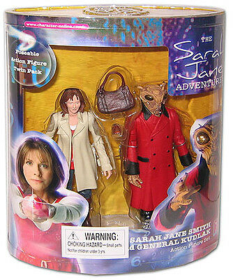 """Doctor Who 5"""" Sarah Jane Smith and General Kudlak Adventures Action Figures"""