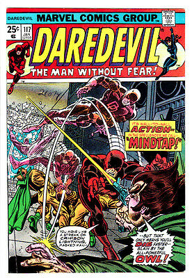 DAREDEVIL #117 (NM-) Owl Cover Story Appearance! + Black Widow! & Shanna! 1975