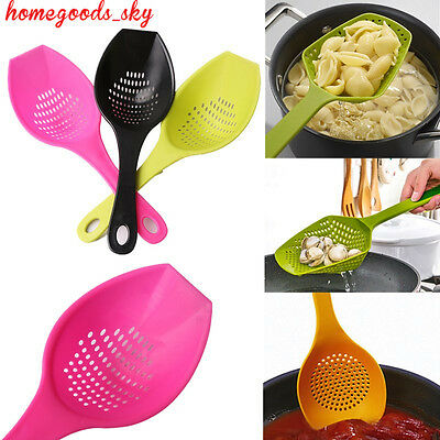 Colander Spoon Strain Cooked Food Drainer Pasta Vegetable Rice Strainer Plastic