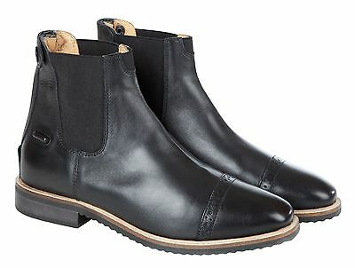 Huntley Equestrian Women's Black Leather Paddock Boots