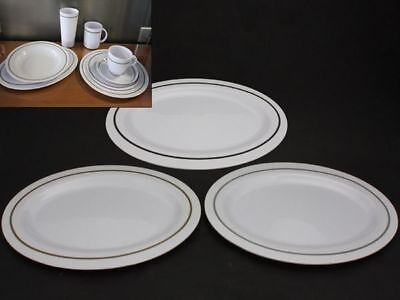 12 x Melamine Plate Pin Line Oval 30cm 3 Asst reduced to clear