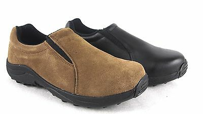 Brazos Men's Leather Slip On Steel Toe Safety Work Shoes