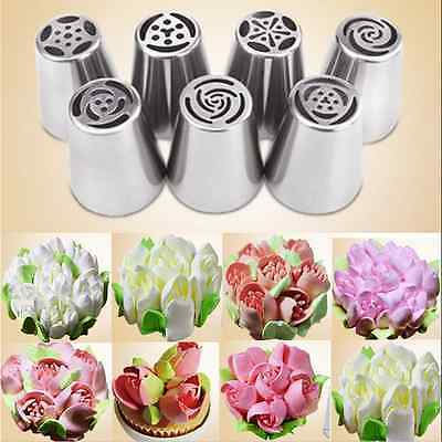 Safety Stainless Steel Nozzles Icing Piping Russian Nozzle Cake Baking Tools CA
