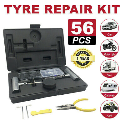 56PCS Tyre Puncture Repair Recovery Kit Heavy Duty 4WD Offroad Plugs Tubeless
