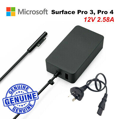 Genuine Original Microsoft Surface Pro 3 4 Charger AC Adapter 1706 USB 15V 4A