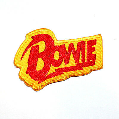 David Bowie Hard Rock Music band collectible Jean Jacket Cap Shirt Iron on patch