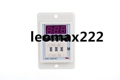 AC/DC 12V 8 Pin 999M Digital Timer Time Delay Relay Beige ASY-3D New