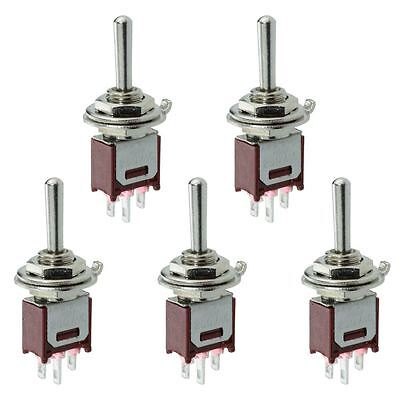 5 x Subminiature On-Off-On Toggle Switch 1.5A