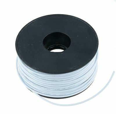 White 0.5mm PVC Stranded Automotive Wire Cable 28/0.15mm 50M Reel