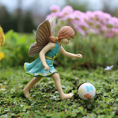 "3.25"" My Fairy Gardens Mini Figure Pick - Jenna w/ Butterfly Ball Figurine Decor"