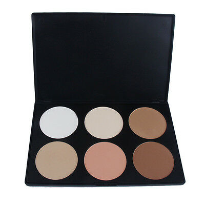6 Naturale Colori Palette Tavolozza Ombretto Eyeshadow Make Up Trucco Cosmetici