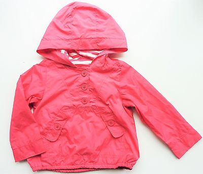 Baby GAP Girls CORAL PINK Packable Hooded Cagoule Shower Jacket 2y 3y £19.95
