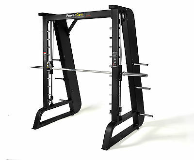 NEW PowerGym Commercial Olympic Smith Machine Squat Rack Bench Press Gym Fitness