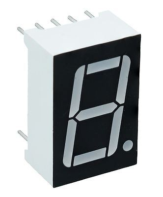 "Red 0.56"" 1 Digit 7 Seven Segment Display Anode LED"