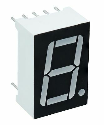 "White 0.56"" 1 Digit 7 Seven Segment Display Anode LED"