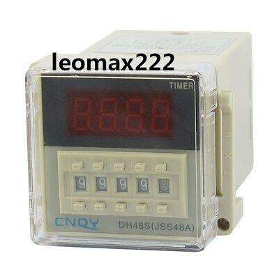 New DH48S-2Z LCD Display Time Timer Delay Relay 8-Pin DPDT 0.01S-9999H AC 220V