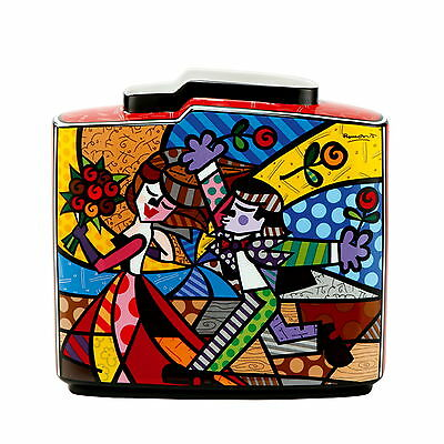 "ROMERO BRITTO - MIAMI POP ART - ""FOLLOW ME"" - Tischvase Goebel Porzellan NEU !!"