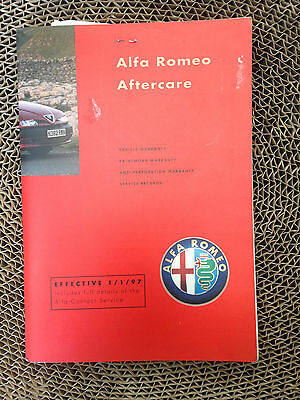Alfa Romeo Aftercare Service History Book Gtv Spider 145 146 155 164 Stamped 95K