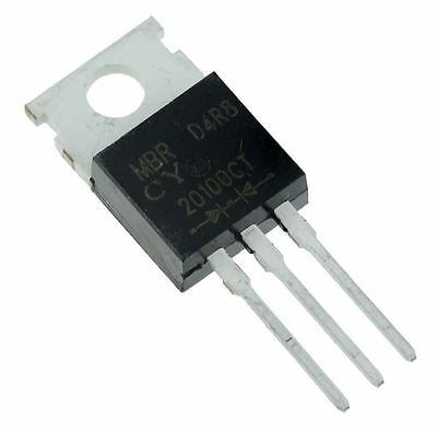 10 x MBR20100CT Schottky Barrier Rectifier Diode 20A 100V