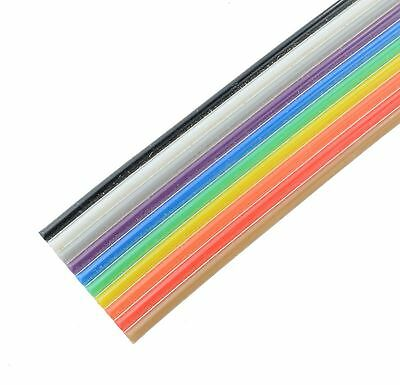 10-Way Coloured Ribbon Cable 28AWG (price per metre)